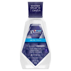 Купить ополаскиватель Crest 3D White Luxe Arctic Fresh Multi-Care Whitening Mouthwash Icy Cool Mint