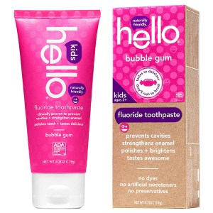 Купить зубную пасту для детей Hello Naturally Friendly Bubble Gum Kids Fluoride Toothpaste