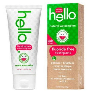 Купить зубную пасту для детей Hello Naturally Friendly Natural Watermelon Fluoride Free Kids Toothpaste