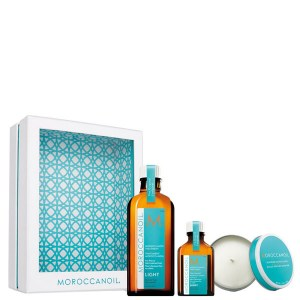 Купить набор для волос Moroccanoil Treatment Light Home and Away Set with Candle