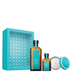 Купить набор для волос Moroccanoil Treatment for All Hair Home and Away Set with Candle