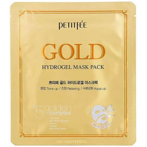 Купить маску для лица Petitfee Gold Hydrogel Mask Pack +5 Golden Complex