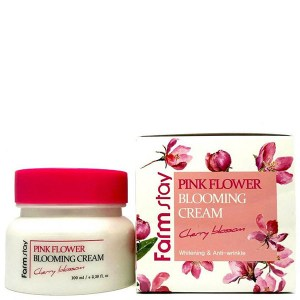 Купить крем для лица FarmStay Pink Flower Blooming Cream Cherry Blossom