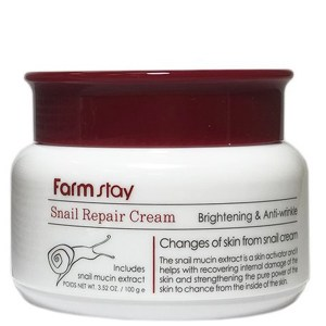 Купить крем для лица FarmStay Snail Repair Cream Brightening & Anti-Wrinkle