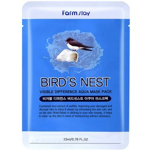 Купить маску для лица FarmStay Visible Difference Mask Sheet Birds Nest Aqua