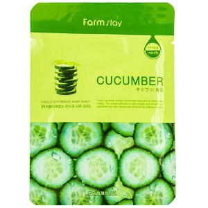 Купить маску для лица FarmStay Visible Difference Mask Sheet Cucumber