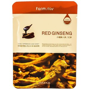 Купить маску для лица FarmStay Visible Difference Mask Sheet Red Ginseng