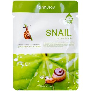 Купить маску для лица FarmStay Visible Difference Mask Sheet Snail